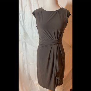Taupe Mid-Length Dress